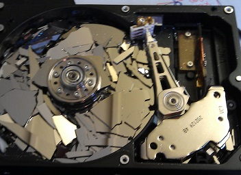 Now that's a Crashed Hard Disk!